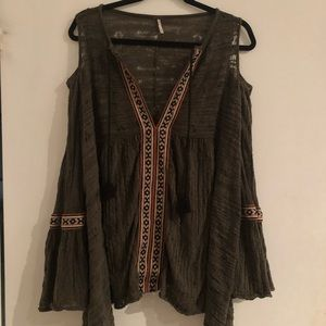 Free People Boho Tunic Blouse